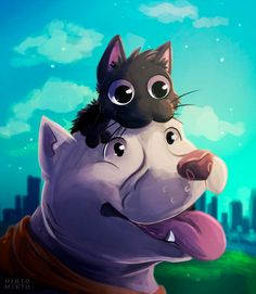 Kitbull by HintoMikto on DeviantArt Disney Plus, Disney Art, Disney Pixar, Dog Room Decor, Cartoon Movie Characters, Pixar Shorts, Japanese Cartoon, Geckos, Cute Comics