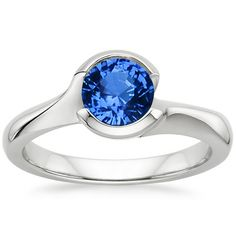 18K White Gold Sapphire Cascade Ring from Brilliant Earth