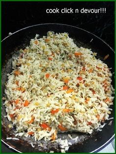 veg pulao recipe with step by step photos. learn how to make restaurant style vegetable pulao with this easy recipe. Veg pulao cooked with whole spices! Fried Fish Recipes, Rice Recipes, Indian Food Recipes, Cooking Recipes, Vegetable Dishes, Vegetable Recipes, Vegetarian Recipes, Veg Pulao Recipe