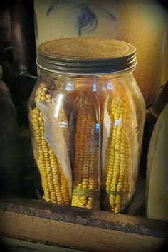 I love the dry corn in a jar I will do this