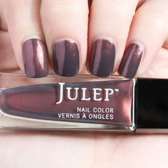 Julep PEGGY Nail Color Treat Polish Wonder Maven Charcoal with Rose Shimmer BNIB #Julep