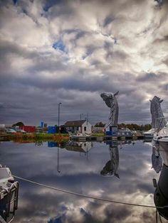 Kelpies reflection. Scotland