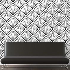 """Geometric Wallpaper from ATADesign's """"Art Deco with a Modern Twist"""" wallpaper collection. http://www.atadesigns.com/product/geometric-wallpaper/"""