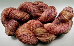 Cinnamon Sprinkles SW Merino/Tencel 50/50 Yarn fingering