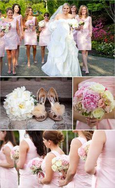 pink bridemaids dresses