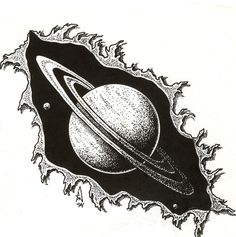Space Drawings, Cool Art Drawings, Art Drawings Sketches, Tattoo Sketches, Planet Sketch, Planet Drawing, Saturn Tattoo, Hipster Vintage, Planet Tattoos