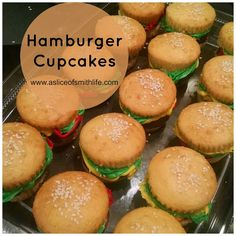 A Slice of Smith Life: Hamburger Cupcakes: Easy, Fun and Yummy!
