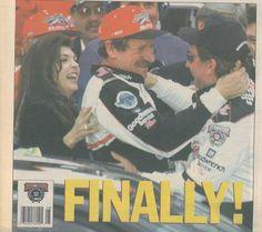 NASCAR Scene, Dale's big moment.   The best in #TBT for May   NASCAR.com Nascar Rules, Nascar Live, Nascar Racing, Dale Earnhardt Chevrolet, Dale Earnhardt Jr, Michael Waltrip, The Intimidator, Daytona 500, Senior Photos