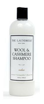 "This Wool & Cashmere ""Shampoo"" is a great way to avoid the dry cleaner. From ""The Laundress"""