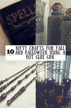 10 Nifty Crafts for Fall and Halloween Using Hot Glue