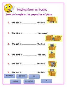 English Grammar For Kids, Learning English For Kids, English Lessons For Kids, Learn English Words, English Worksheets For Kindergarten, English Worksheets For Kids, 1st Grade Worksheets, English Prepositions, English Vocabulary