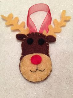 Rudolph felt christmas tree decoration reindeer
