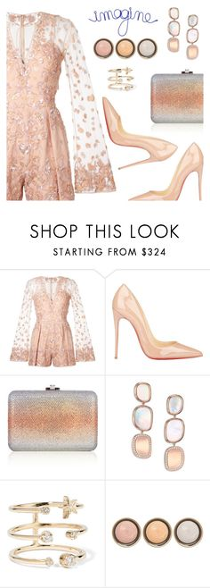 """""""Outfit of the Day"""" by dressedbyrose ❤ liked on Polyvore featuring Zuhair Murad, Christian Louboutin, Judith Leiber, Roberto Coin, Andrea Fohrman, By Terry, WALL, ootd, inspiration and polyvoreeditorial"""