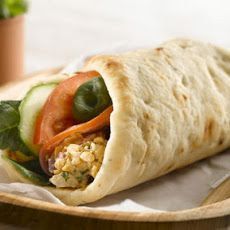 Spicy Chickpea Naan Wrap