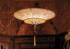 Fortuny lamps – handmade, hemstitched and handpainted in Venice, Italy