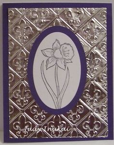 Fleur de Daffodil by yduj - Cards and Paper Crafts at Splitcoaststampers Card Crafts, Paper Crafts, Diy Crafts, Birthday Greeting Cards, Flower Cards, Daffodils, I Card, Card Ideas, Card Making