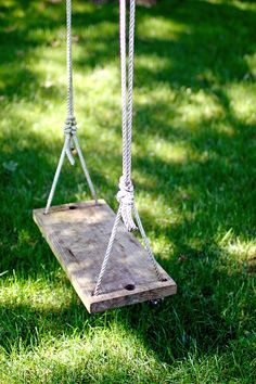 Just like the outdoor lights:  everyone should have a swing hanging from a tree branch.