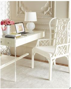 pinterest feature friday - | feminine office, feminine and shabby