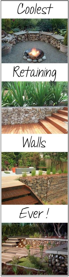 Coolest Retaining Walls Ever! You wouldn't believe how easy and cheap these are.