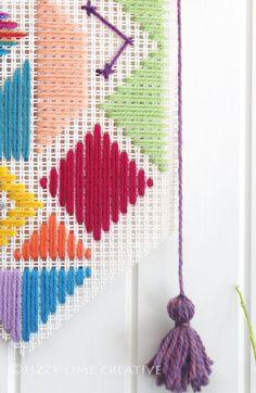 Woven colourful geometric pattern banner by FizzyLimeCreative