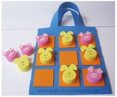 Fun Crafts For Kids, Baby Crafts, Easter Crafts, Games For Kids, Diy For Kids, 5 Little Monkeys, Craft Stalls, Homemade Toys, Diy Games