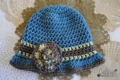 Crochet for Cancer - free crochet pattern Beverly's Cloche in Vannas Choice #cre8tioncrochet