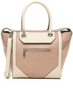 8af330ed9d63 Danielle Nicole Auden Faux Leather Colorblock Tote Vegan Handbags