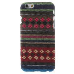 Javu - iPhone 6 Hoesje - Back Case Hard Canvas Tribal Strepen Groen   Shop4Hoesjes