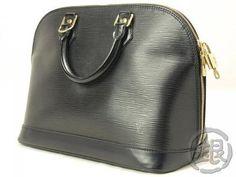 Authentic Pre-owned Louis Vuitton Epi Black Alma Handbag Purse Bag M52142