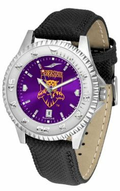 Weber State Wildcats Competitor AnoChrome Men's Watch with Nylon/Leather Band by SunTime. $85.45. Rotating Bezel. Calendar Date Function. Color Coordinated. Showcase the hottest design in watches today! A functional rotating bezel is color-coordinated to compliment the NCAA Weber State Wildcats logo. A durable, long-lasting combination nylon/leather strap, together with a date calendar, round out this best-selling timepiece.The AnoChrome dial option increases the...