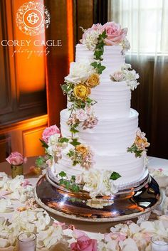 Elegant Wedding Cake | Tiffany And Hartwell   Crest Center Wedding Asheville,  NC | Photography By The Schultzes | Planning/design By Ashley Baber U2026