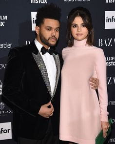 @theweeknd and @selenagomez at tonight's #BazaarIcons party  Swipe for a message Selena filmed for @carineroitfeld!   via CR FASHION BOOK MAGAZINE OFFICIAL INSTAGRAM - Celebrity  Fashion  Haute Couture  Advertising  Culture  Beauty  Editorial Photography  Magazine Covers  Supermodels  Runway Models