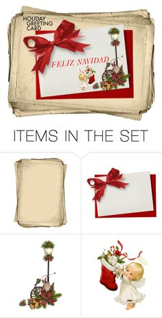 """Holiday Greeting Card"" by freida-adams ❤ liked on Polyvore featuring art, polyvorecommunity, polycontest, holidaygreetingcard, polyvoreartset and PVStyleInsiderContest"