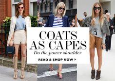 Coats As Capes