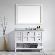 "Found it at Joss & Main - Simmons 48"" Single Bathroom Vanity & Mirror Set"