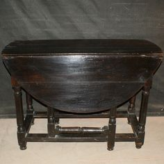 "Large 18th C oak 2 drawer gate leg table. 1760 With leaves up it extends to 48""(122cm)deep"