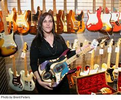 """American artist Pamelina H made some art guitars for Fender Custom Shop Here are some pictures of her and the art guitars she made for Fender. This is a guitar called """"Plastiform"""". Custom Electric Guitars, Fender Custom Shop, Some Pictures, American Artists, Art Pieces, Play, Amazing, Artworks, Art Work"""