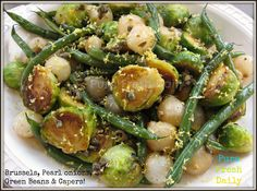 PMED Brussels Green Beans and Pearl Onions
