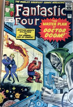 Fantastic Four Feb. 1964 issue, Silver Age Marvel Comic in GD+/VG- condition. Marvel Comic Books, Comic Books Art, Comic Art, Marvel Art, Marvel Heroes, Book Art, Comic Superheroes, Marvel Characters, Marvel Avengers