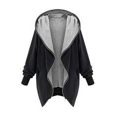 Black Oversized Zip-Up Hoodie Lookbook Store ❤ liked on Polyvore featuring tops, hoodies, hooded pullover, oversized hoodie, hooded sweatshirt, sweatshirt hoodies and zip up top