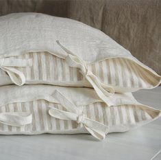 Linen sheets and pillow shams - soft linen sheet set, white linen - stone washed linen bedding - Full Queen King linen sheet set Linen Sheets, Linen Duvet, Linen Pillows, Linen Fabric, Bed Pillows, Bed Sheets, Bed Linens, Cushions, Pillow Shams