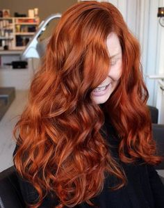 Long Copper Red Hair