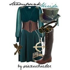 Steampunk Merida, created by princesschandler on Polyvore