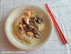 My Culinary Curriculum: Saumon à la crème de coco, coriandre et vermicelle...