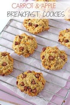 Vegetable Cookies?! A delicious breakfast cookie recipe, packed full of healthy oats, carrots, apples and banana. Great for picky eaters!