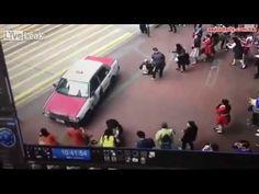 Hong Kong cab driver ploughs into crowd