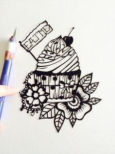 Eat me, wonderland Papercut www.facebook.com/lousPaperlace