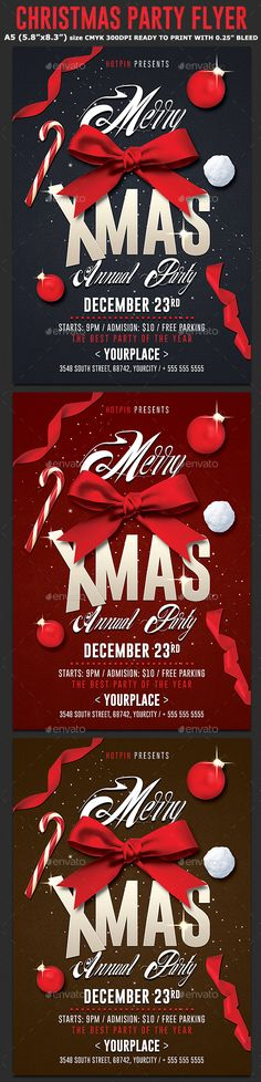 Christmas Party Flyer Psd Template — Photoshop PSD #christmas flyer #white • Download ➝ https://graphicriver.net/item/christmas-party-flyer-psd-template/18983932?ref=pxcr