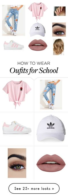 """School outfit"" by dianagarza1216 on Polyvore featuring WithChic and adidas"