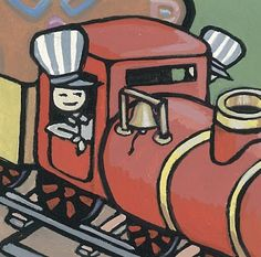 """Train Ride Detail"" from a project by Alisa Perks, artist in gouache. Train Rides, Gouache, Detail, Artist, Projects, Painting, Log Projects, Blue Prints, Painting Art"